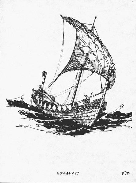 How to draw viking longship